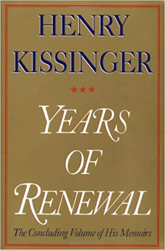 Years of Renewal by Henry Kissinger pdf free Download